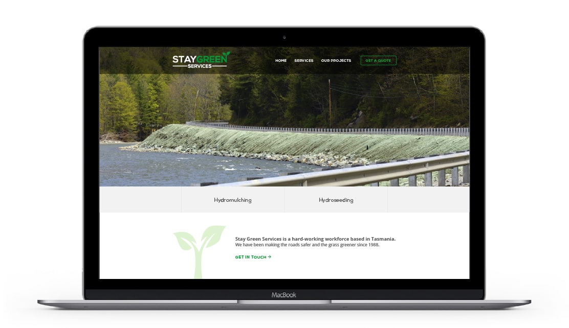 Stay Green Services Website